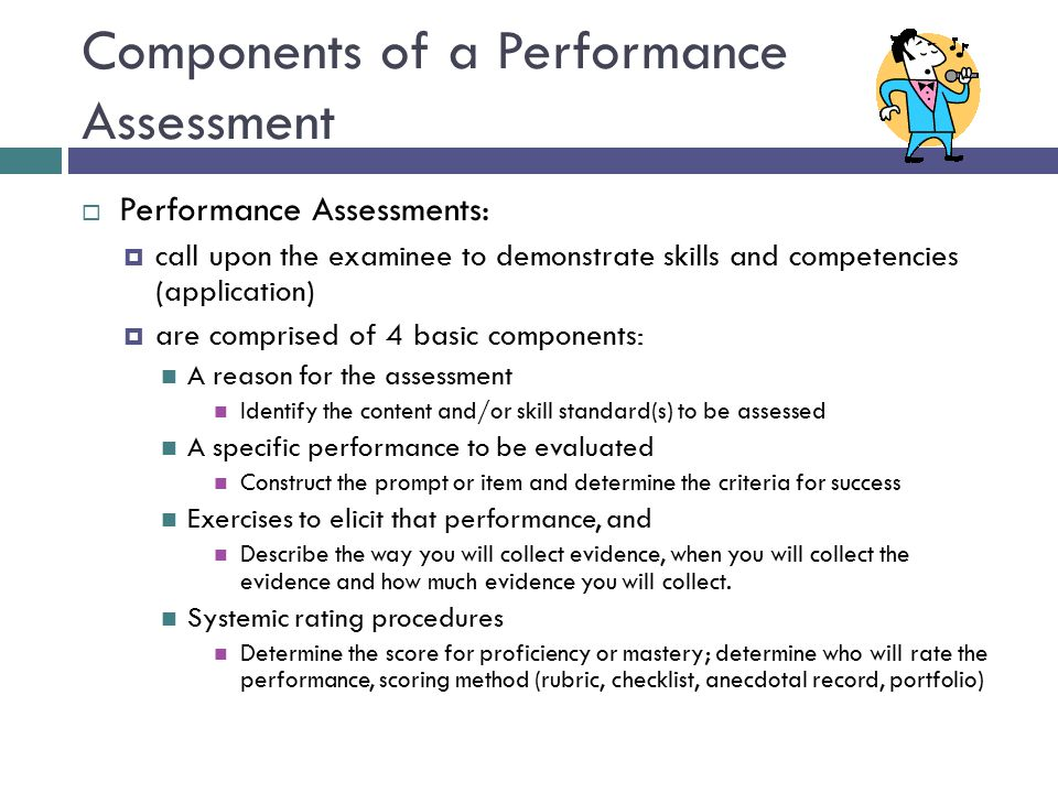 Components of a Performance Assessment