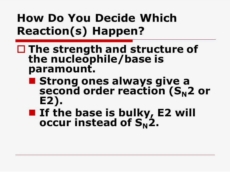 How Do You Decide Which Reaction(s) Happen