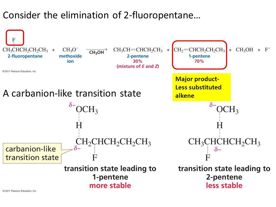 Consider the elimination of 2-fluoropentane…