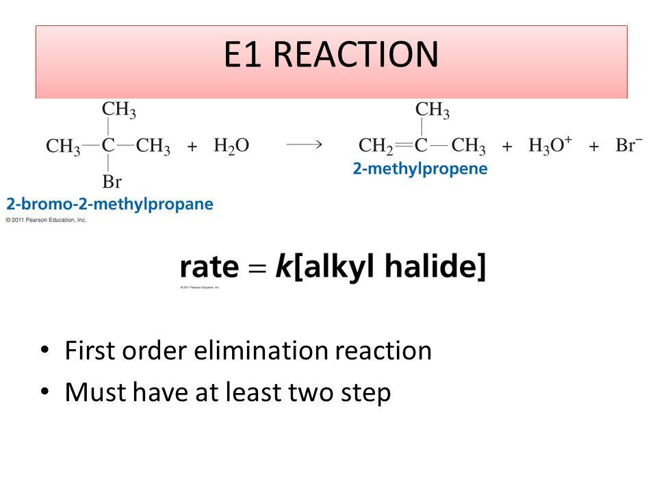E1 REACTION First order elimination reaction