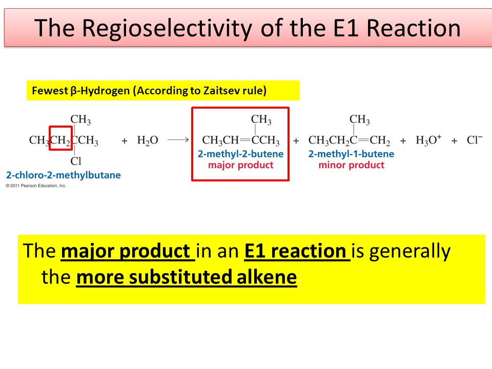 The Regioselectivity of the E1 Reaction