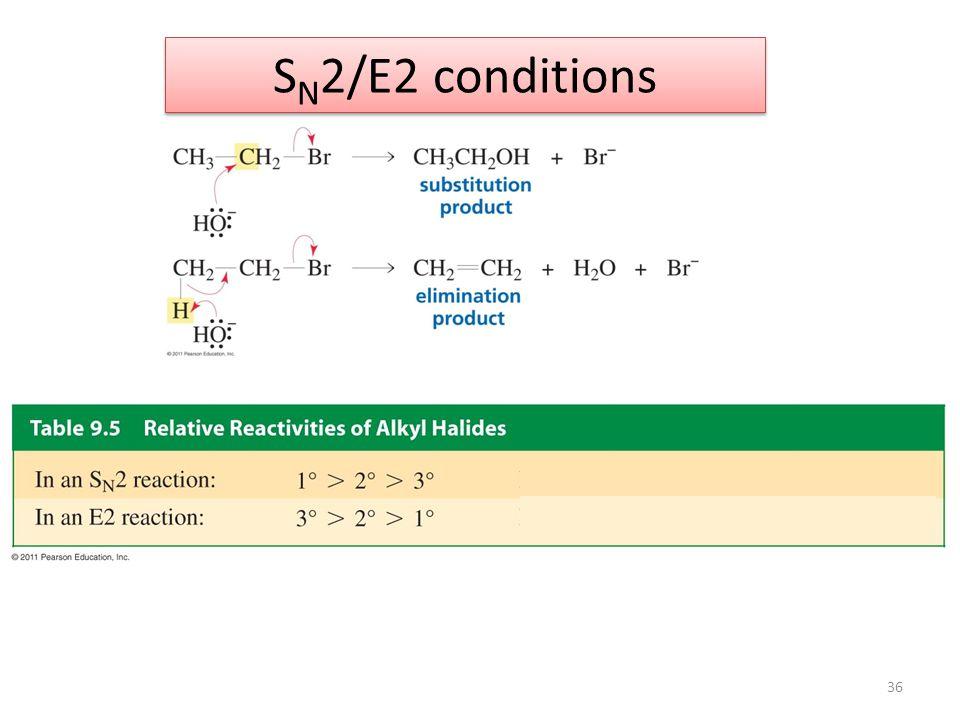 SN2/E2 conditions