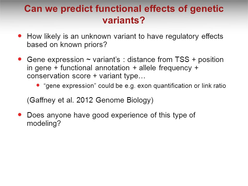 Can we predict functional effects of genetic variants