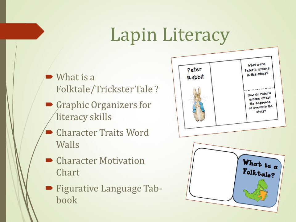 Lapin Literacy What is a Folktale/Trickster Tale