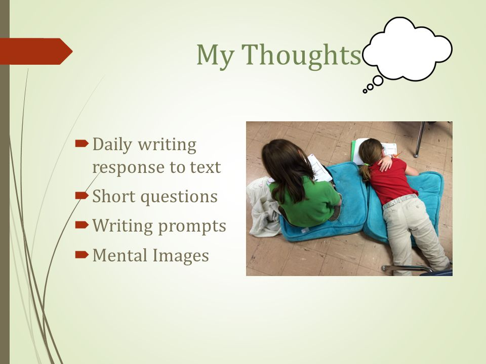 My Thoughts Daily writing response to text Short questions
