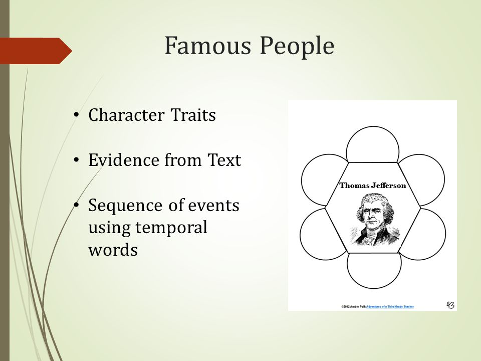 Famous People Character Traits Evidence from Text