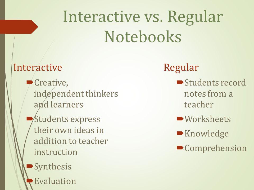 Interactive vs. Regular Notebooks