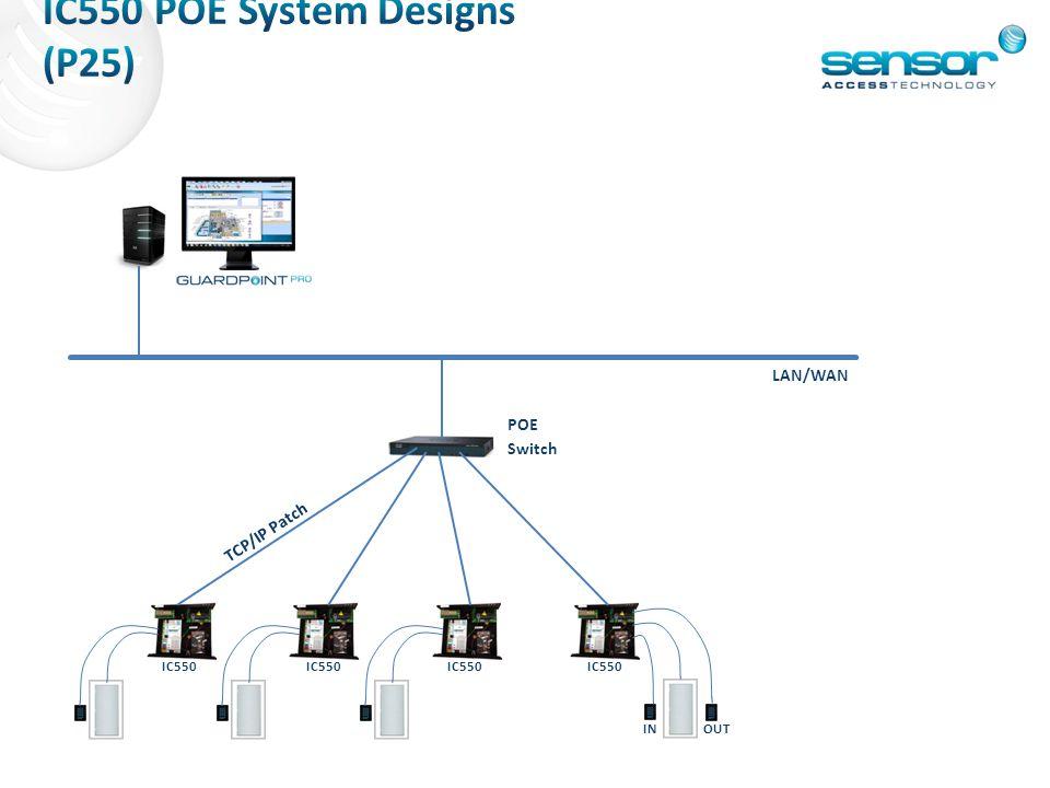 IC550 POE System Designs (P25)