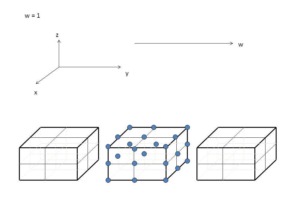 w = 1 z w y x