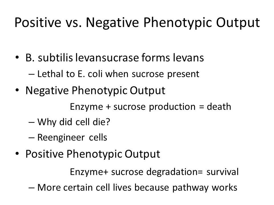 Positive vs. Negative Phenotypic Output