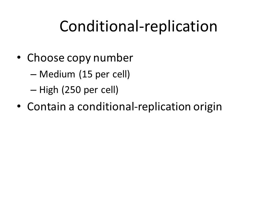 Conditional-replication