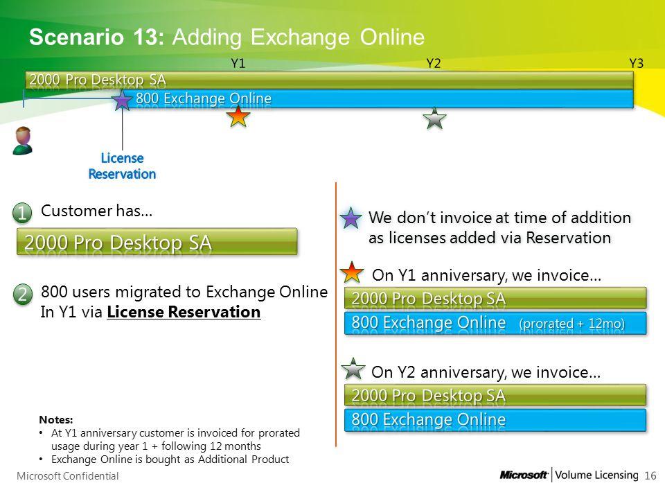 Scenario 13: Adding Exchange Online
