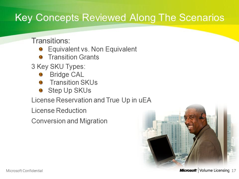 Key Concepts Reviewed Along The Scenarios