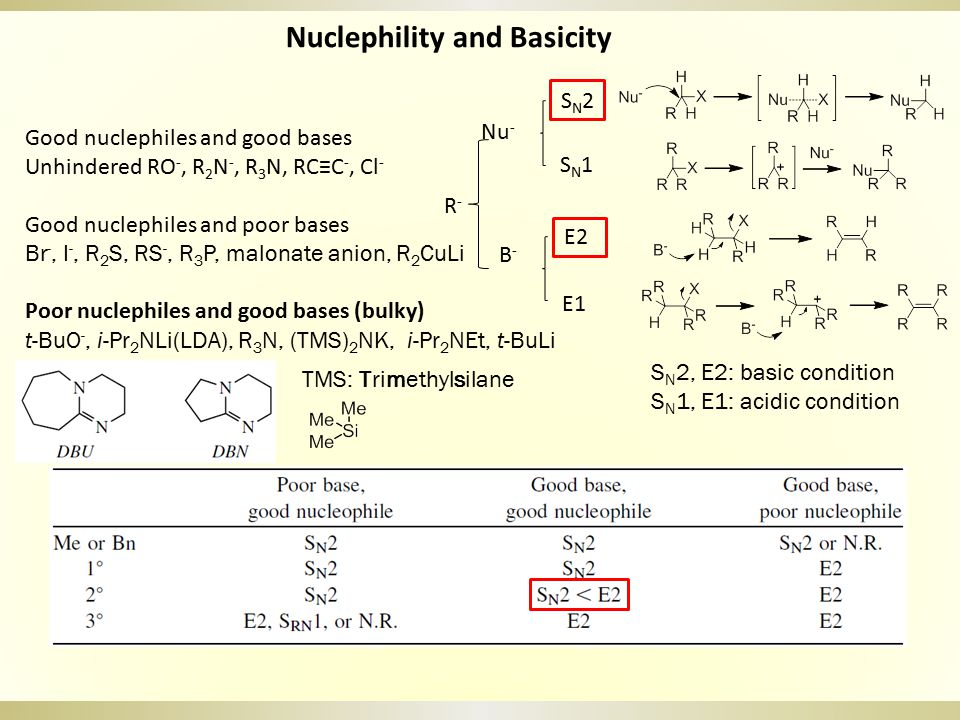 Nuclephility and Basicity