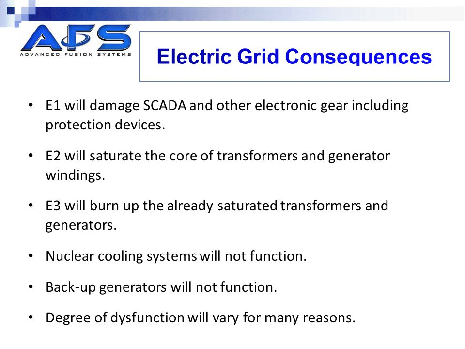 Electric Grid Consequences