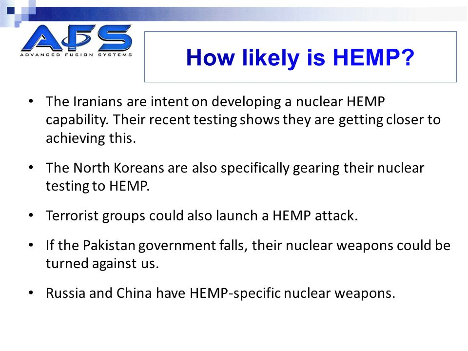 How likely is HEMP