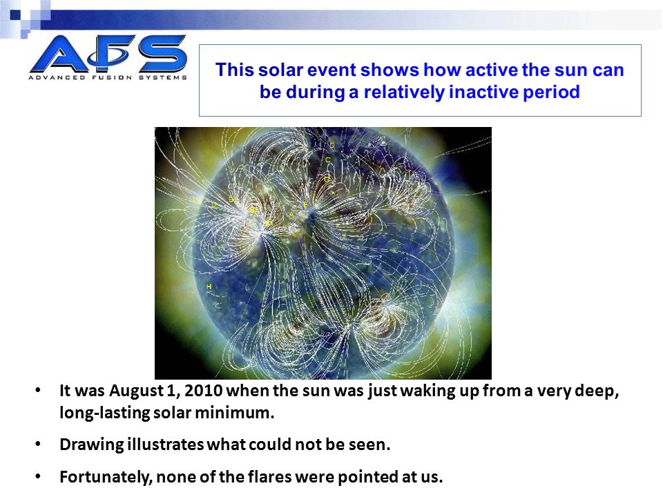 This solar event shows how active the sun can be during a relatively inactive period