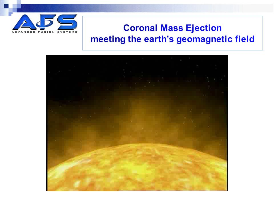 Coronal Mass Ejection meeting the earth's geomagnetic field