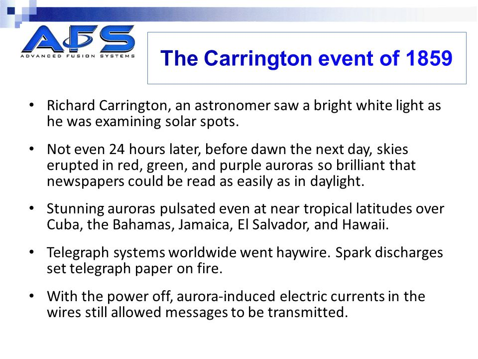 The Carrington event of 1859