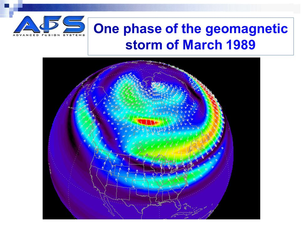 One phase of the geomagnetic storm of March 1989