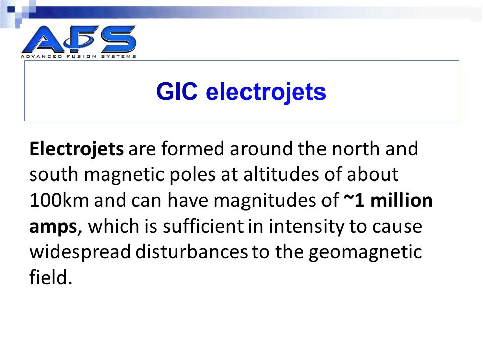 GIC electrojets