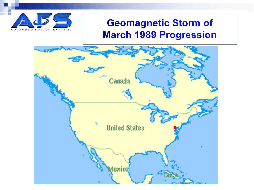 Geomagnetic Storm of March 1989 Progression