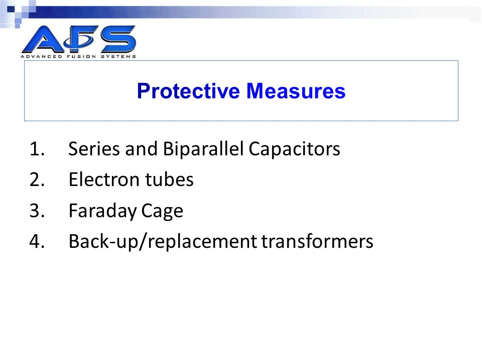 Protective Measures Series and Biparallel Capacitors.