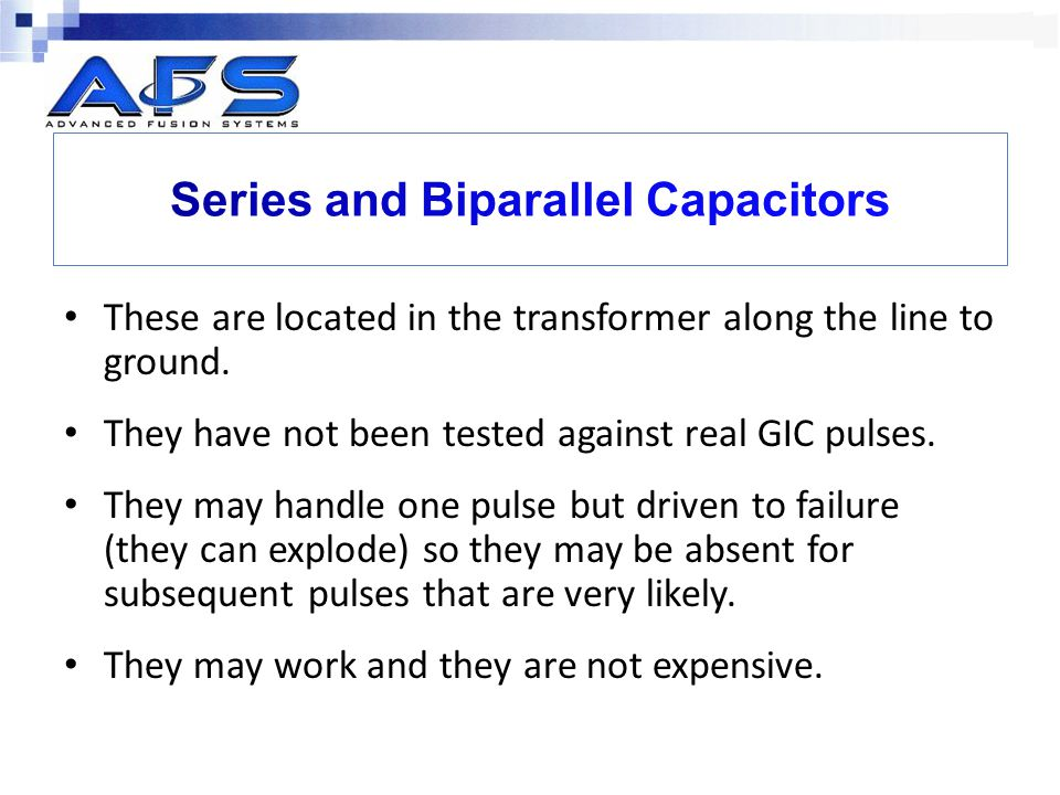 Series and Biparallel Capacitors