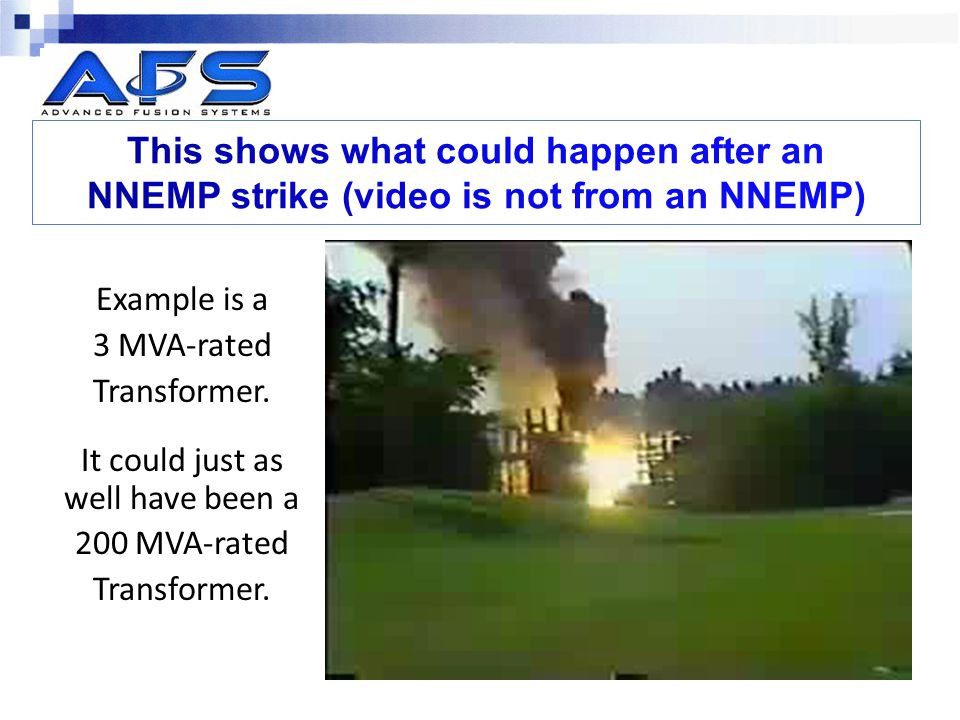 This shows what could happen after an NNEMP strike (video is not from an NNEMP)