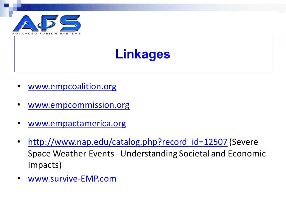 Linkages www.empcoalition.org www.empcommission.org