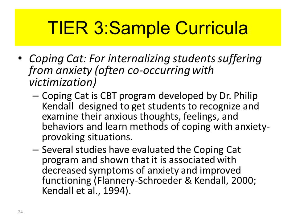 TIER 3:Sample Curricula