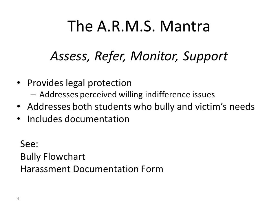 Assess, Refer, Monitor, Support