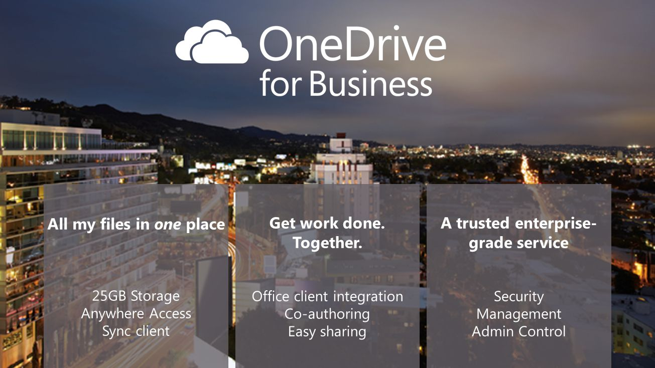 All my files in one place A trusted enterprise-grade service
