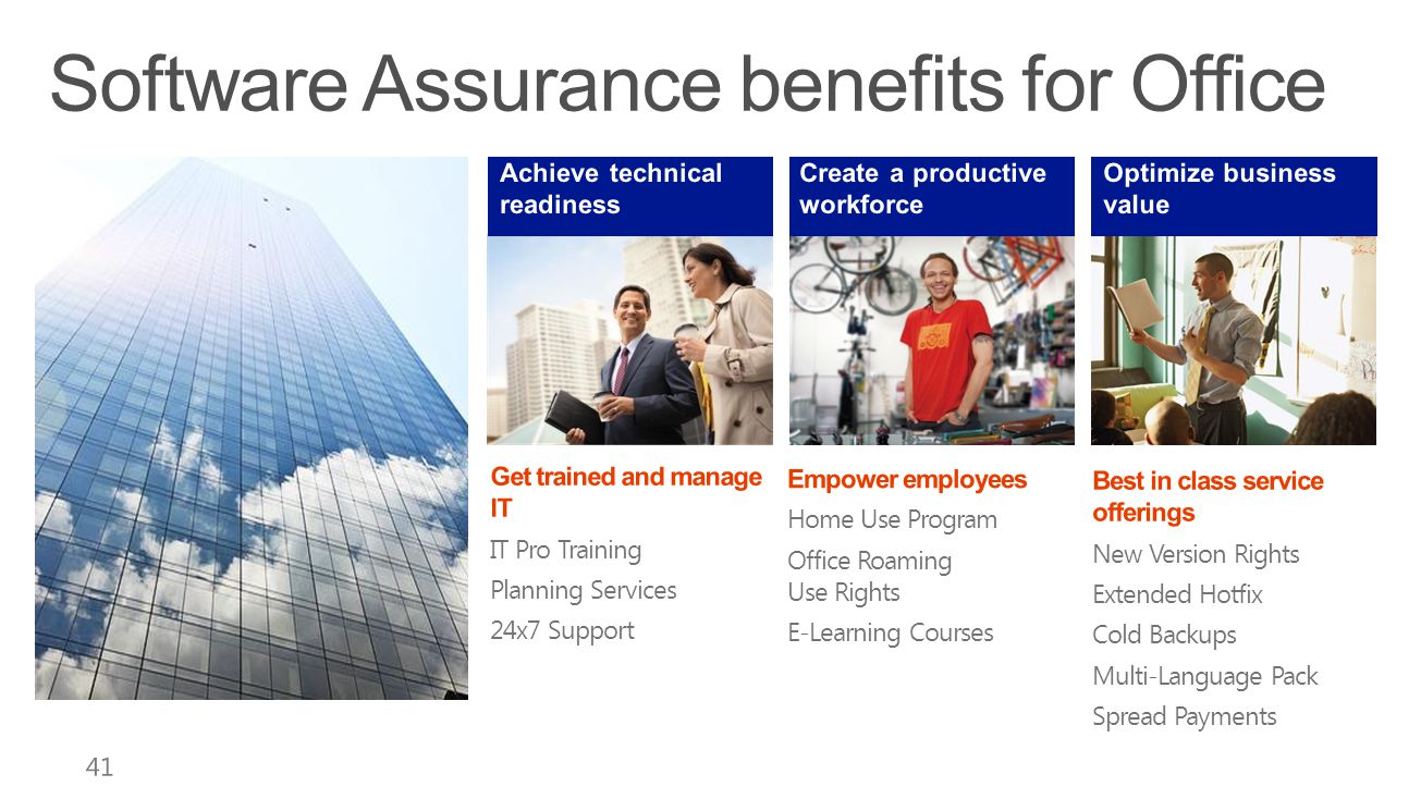 Software Assurance benefits for Office