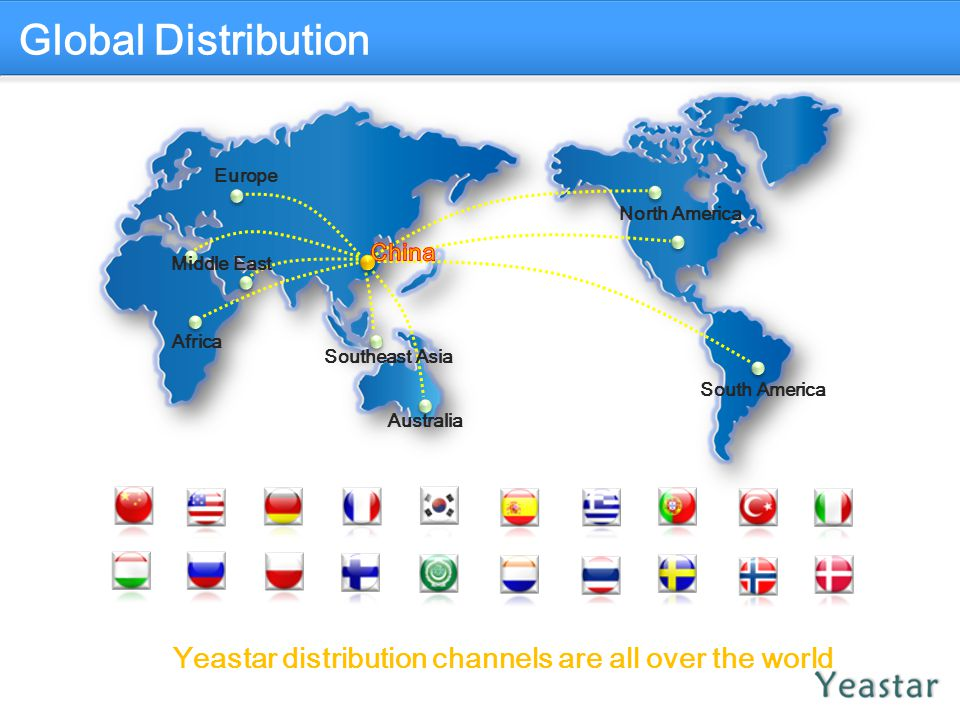 Yeastar distribution channels are all over the world