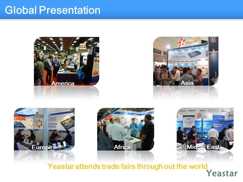 Yeastar attends trade fairs through out the world