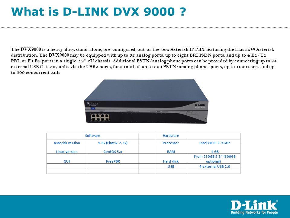 What is D-LINK DVX 9000 Trunks Cisco CME