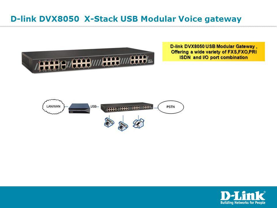 D-link DVX8050 X-Stack USB Modular Voice gateway