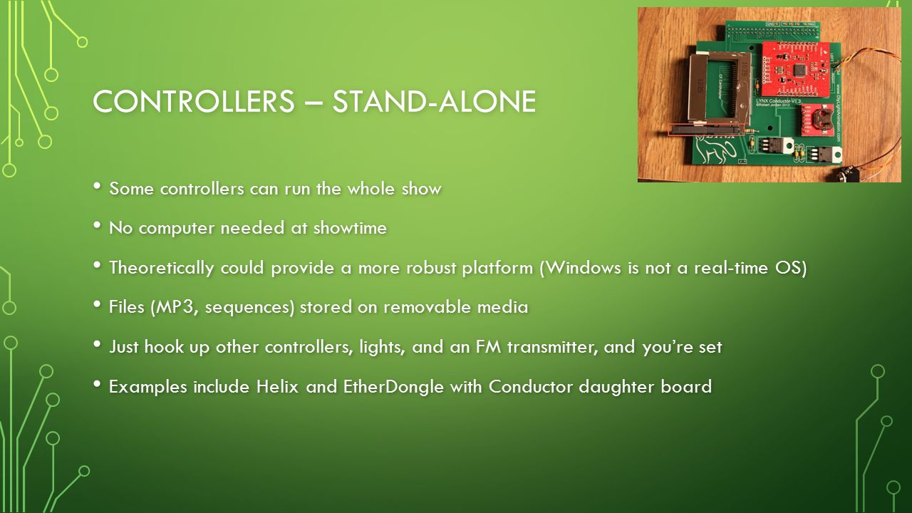 Controllers – Stand-alone