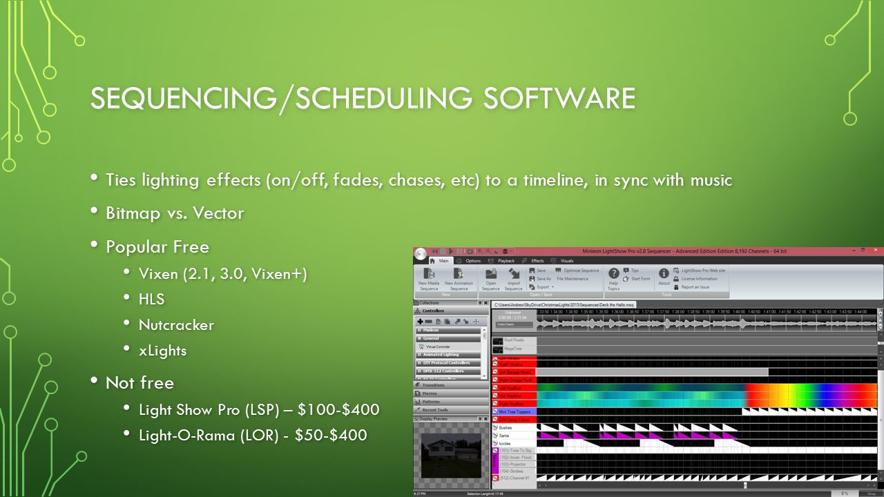 Sequencing/Scheduling Software
