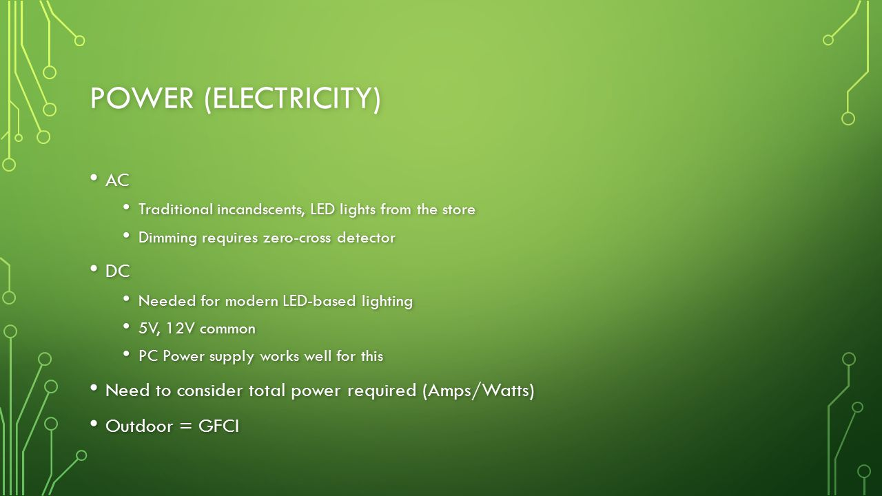 Power (Electricity) AC DC