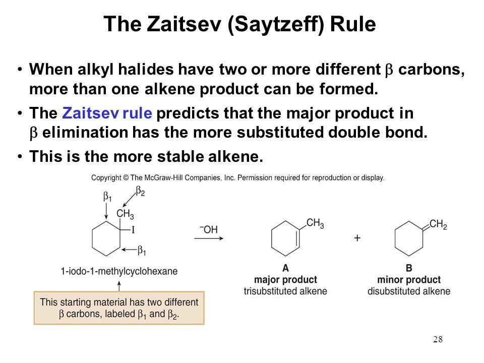 The Zaitsev (Saytzeff) Rule