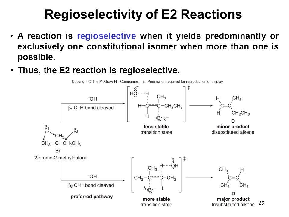 Regioselectivity of E2 Reactions
