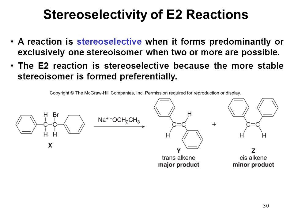 Stereoselectivity of E2 Reactions