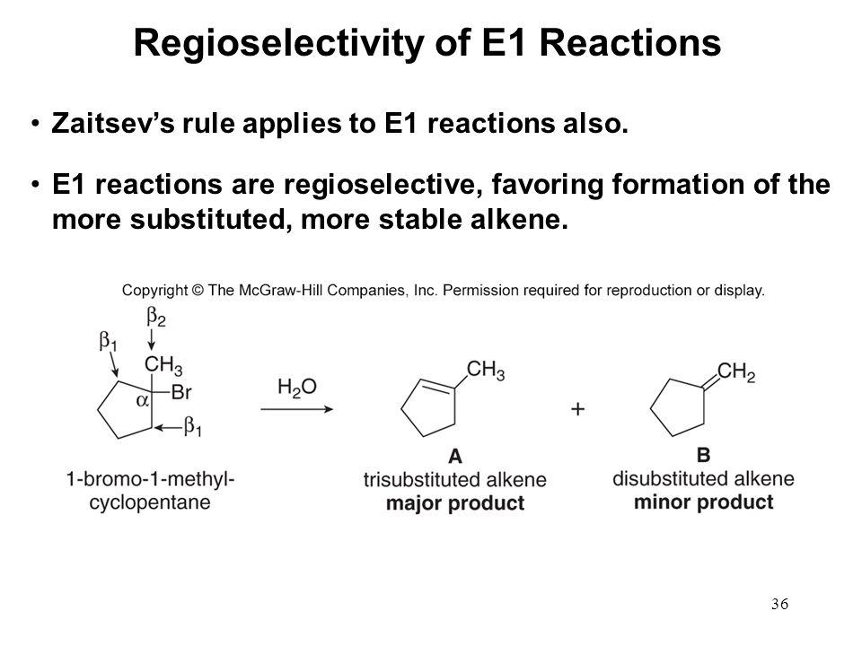 Regioselectivity of E1 Reactions