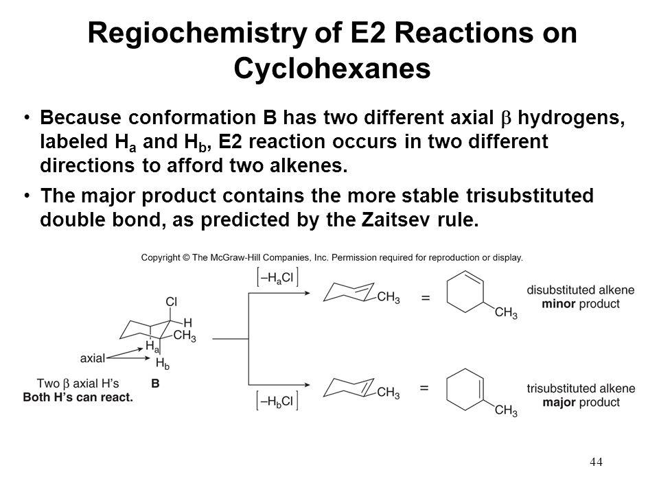Regiochemistry of E2 Reactions on Cyclohexanes