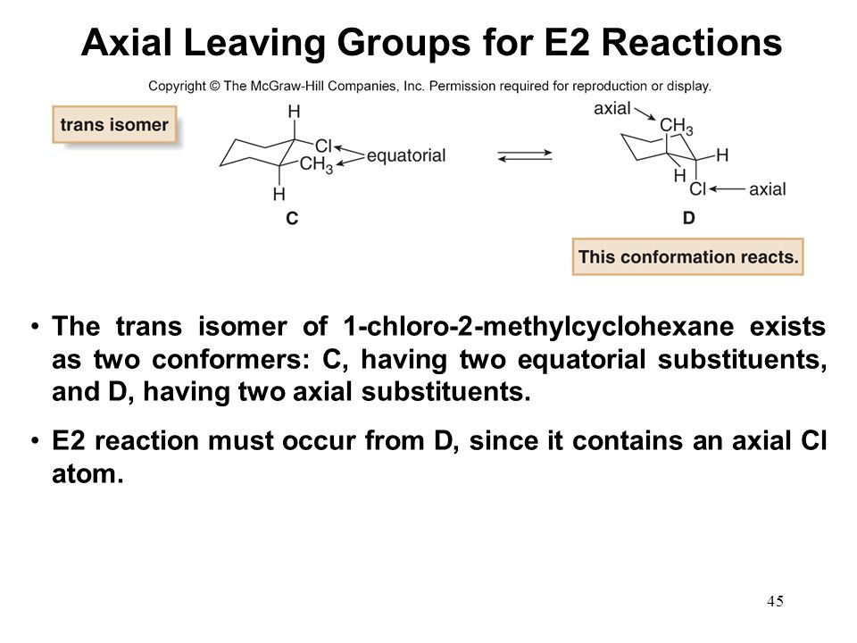 Axial Leaving Groups for E2 Reactions