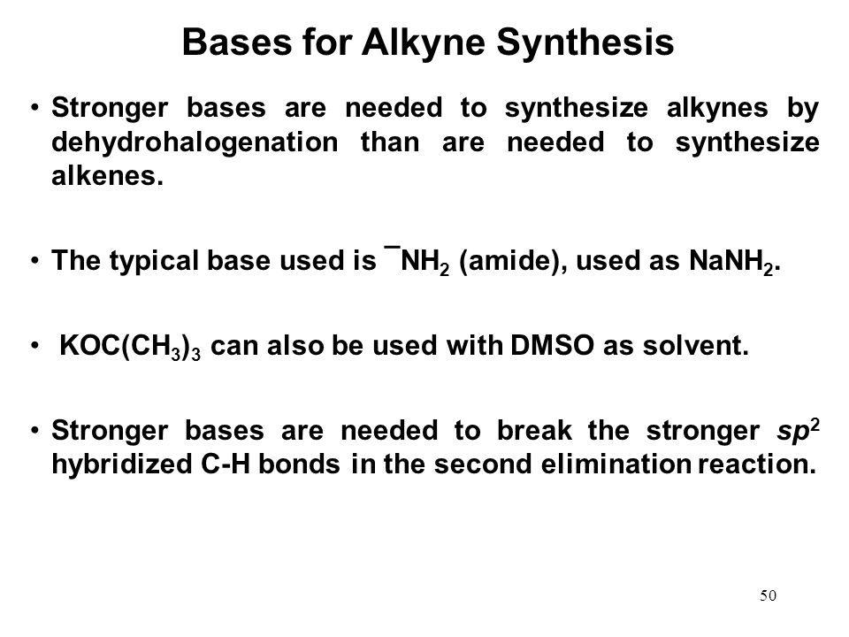 Bases for Alkyne Synthesis