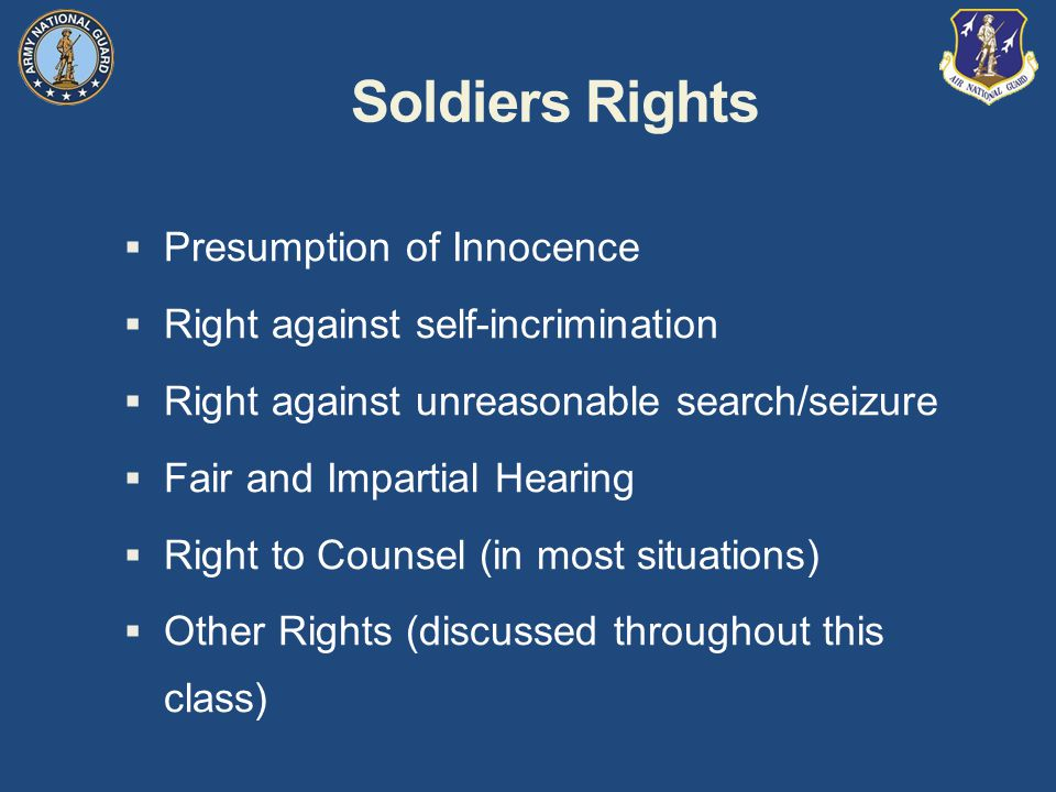 Soldiers Rights Presumption of Innocence