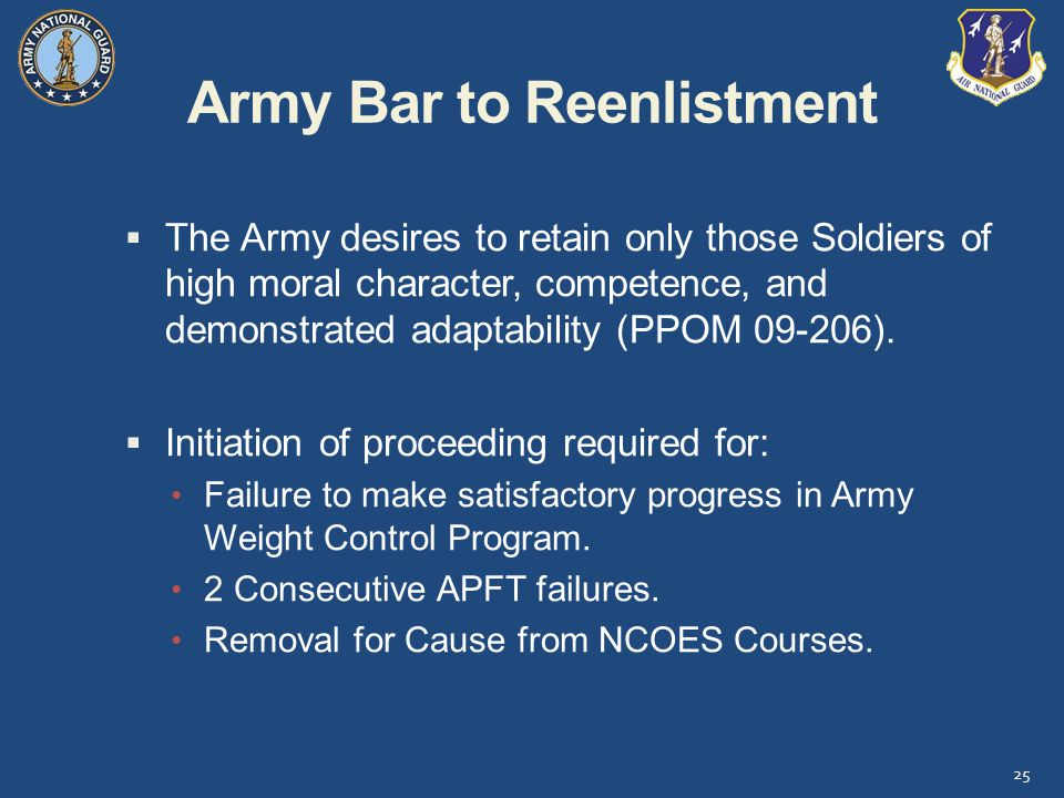 Army Bar to Reenlistment